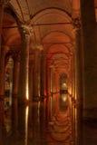 Cisterna da basílica de 435 bizantinos Fotografia de Stock