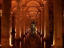 Cisterna de la basílica en Estambul fotografía de archivo libre de regalías