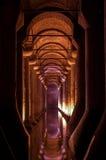 Cisterna de la basílica en Estambul, Turquía Fotos de archivo libres de regalías