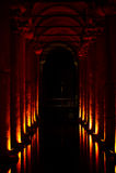 Cisterna de la basílica, Estambul, Turquía Imagenes de archivo