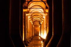 Cisterna de la basílica (Yerebatan Sarnici) en Estambul Imágenes de archivo libres de regalías