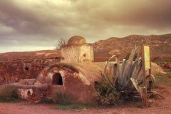Cisterna del Cortijo del Fraile, Cabo de Gata, Almeria, Spagna Fotografie Stock