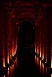 Cisterna della basilica, Costantinopoli, Turchia Immagini Stock