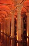 Cisterna della basilica, Costantinopoli, Turchia fotografia stock libera da diritti