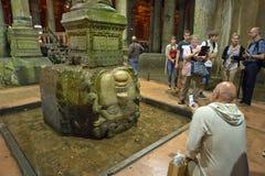 Cisterna della basilica, Costantinopoli, Turchia Immagine Stock Libera da Diritti