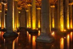 Cisterna Estambul de la basílica Foto de archivo