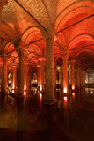 Cisterna Estambul Turquía de la basílica Foto de archivo libre de regalías