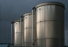 Cisterna inossidabile per farina 2 Fotografia Stock