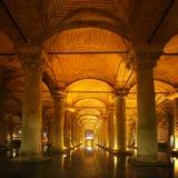 Cisterna sotterranea a Costantinopoli Fotografie Stock Libere da Diritti