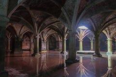 Cisterna subterráneo portuguesa en el Mazagan Ciudad del EL Jadida, Marruecos foto de archivo