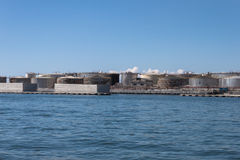 Cisterne nel porto di Genova, Italia Fotografie Stock Libere da Diritti