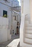 Cisternino (Apulia, Italië) - Oude stad stock afbeelding