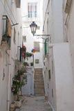 Cisternino (Apulia, Italia) - vecchia città Immagini Stock Libere da Diritti