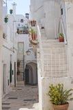 Cisternino (Apulia) - vecchia città Fotografia Stock Libera da Diritti