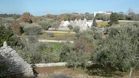 Trulli, typical house in Apulia. Cisternino, Italy - December 28, 2017: Trulli, typical house in Apulia stock video