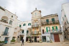 Cisternino Puglia, södra Italien Arkivfoton