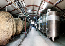 Cisterns in a wine cellar Royalty Free Stock Image