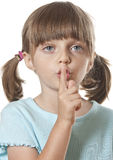 Ciszy lub sekretu pojęcie Fotografia Royalty Free