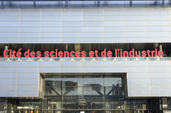 Cité des sciences et de l'industrie. The Cité des Sciences et de l'Industrie is the biggest science museum in Europe. Located in Parc de la Villette in Paris Royalty Free Stock Images