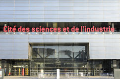 Cité des sciences et de l'industrie. The Cité des Sciences et de l'Industrie is the biggest science museum in Europe. Located in Parc de la Villette in Paris Stock Image