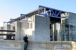 Cité des-vetenskaper och de l'industrie arkivbild