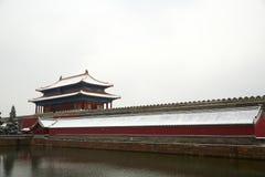 Cité interdite dans la neige, Pékin Images stock
