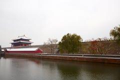 Cité interdite dans la neige, Pékin Photos stock