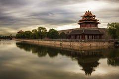 Cité interdite et le fossé, Pékin Photos libres de droits