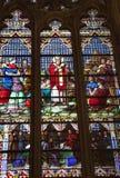 cit玻璃iriish新的圣徒被弄脏的约克 免版税图库摄影