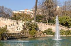 cit пруд Барселона ландшафт тропический Урбанско Парк стоковые изображения