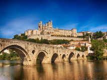Cit of Beziers in southern France Stock Images