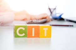 CIT word with colorful blocks Royalty Free Stock Image