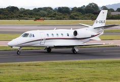 Citação XLS de Hamburgo Cessna 560XL do ar Imagens de Stock