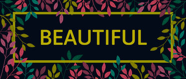 Citações coloridas do outono do vetor no quadro quadrado Fotografia de Stock Royalty Free