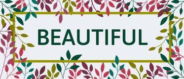 Citações coloridas do outono do vetor no quadro quadrado Bandeira do outono, cartaz slogan Foto de Stock Royalty Free
