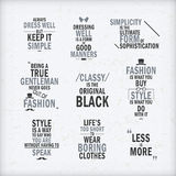 Citações da atitude da forma ajustadas Imagens de Stock Royalty Free