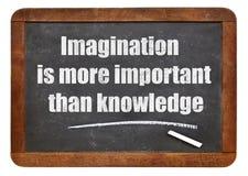 Citações da imaginação e do conhecimento Fotos de Stock