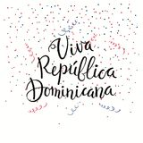 Citações da rotulação de Viva Dominican Republic ilustração stock