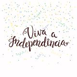 Citações de Viva Independence Portuguese ilustração stock