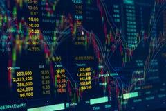 Citações do preço de mercado conservado em estoque, de teste padrão de preço gráfico e algum indicato Imagens de Stock Royalty Free