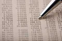 Citações financeiras Fotos de Stock