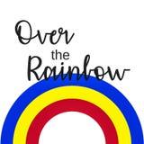 Citações inspiradas: Em algum lugar sobre o arco-íris Fotografia de Stock Royalty Free