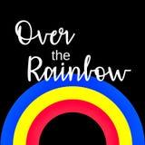 Citações inspiradas: Em algum lugar sobre o arco-íris Fotografia de Stock