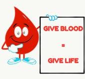 citações inspiradas perfeitas da doação de sangue ilustração do vetor