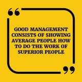 Citações inspiradores Boa gestão Imagens de Stock Royalty Free