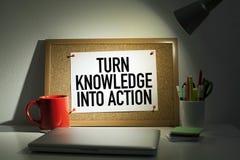 Citações inspiradores do negócio sobre a ação Fotos de Stock