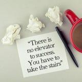 Citações inspiradores do sucesso Foto de Stock