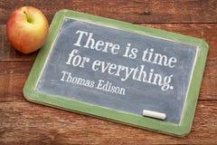 Citações inspiradores por Thomas Edison Imagens de Stock