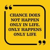 Citações inspiradores A possibilidade não acontece somente na vida Somente hap Imagens de Stock Royalty Free