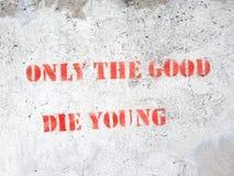 Citações no muro de cimento Foto de Stock